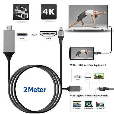 USB-C Type C to 4K HDMI HDTV Adapter Cable For Samsung Galaxy HTC Huawei Macbook