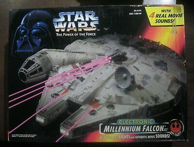 Vintage STAR WARS MILLENNIUM FALCON Power Of The Force Electronic MISB POTF
