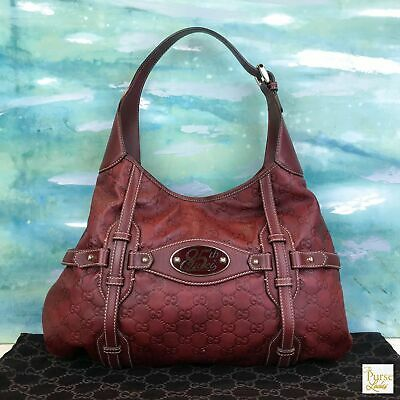 cd79f1395 GUCCI Guccissima Red Leather 85th Anniversary Special Edition Jackie O Hobo  Bag