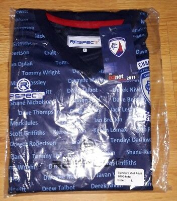 Chesterfield fc large adults 2010-11 champions respect football shirt bnwt.