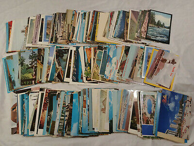 Huge Lot Almost 300 US & Foreign Postcard Collection Antique Vintage used unused