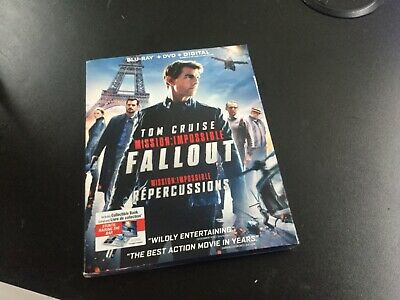 Mission Impossible Fallout  ( Blu-Ray + Dvd + Digital  ) Brand New Sealed