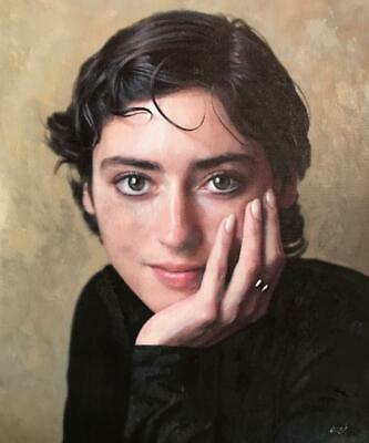 """NEW WILLIAM OXER ORIGINAL """"Intelligence"""" Pretty sexy Woman Girl PAINTING"""