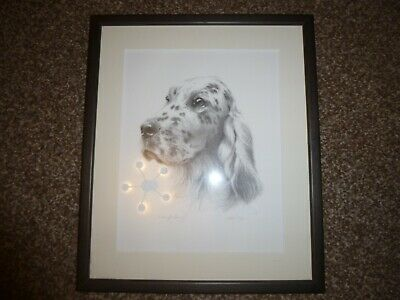 English Setter Framed Signed Limited Edition Print by Sandra Leighton.