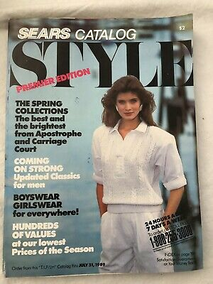 1ab9a1a494 Sears Summer 1989 Style Catalog 348 Pages Vintage 1980s Fashion Shoes  Clothes