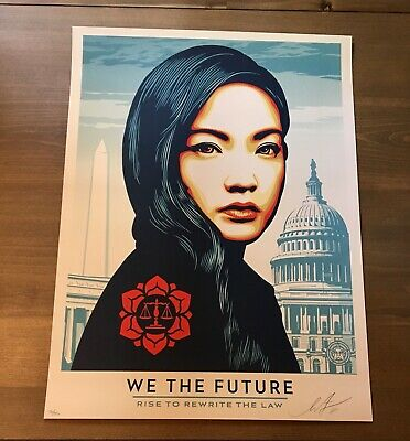 Shepard Fairey Obey WE THE FUTURE Signed Numbered Print banksy retna kaws