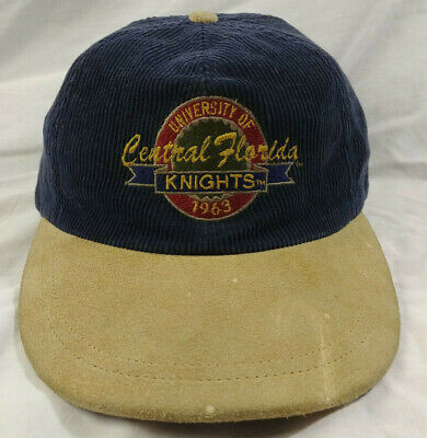 half off c9c5c 36727 VINTAGE 90s UCF Corduroy Hat Cap University of Central Florida KNIGHTS Adj.