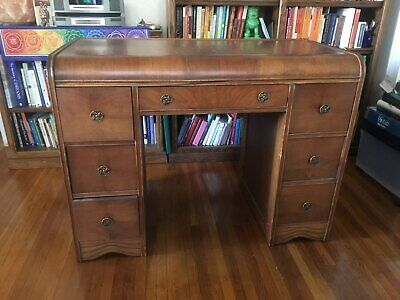 Antique Desk Waterfall Style