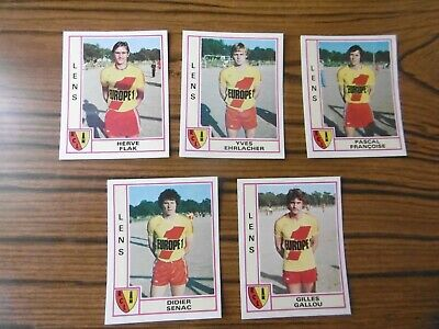 ⛹️‍♀️ Lot de 5 stickers - R.C LENS - PANINI FOOTBALL 80 ⛹️‍♂️