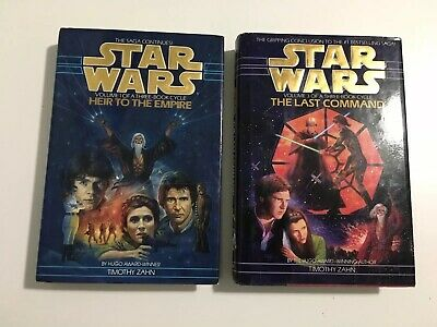 Star Wars Thrawn Trilogy Books 1 & 3 By Timothy Zahn Hardcover 1st Editions