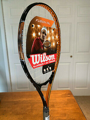 "NEW-Wilson Fusion XL Tennis Racquet Adult Oversized Head 112 Sq In 4 3/8"" grip"