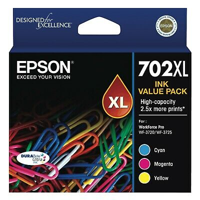 NEW Epson T345592 702XL 3 Colour DURABrite Ink Pack