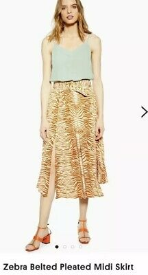 4ecf186540 TOPSHOP METALLIC PLEATED Midi Skirt in Taupe & Grey - £12.99 ...