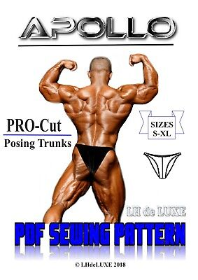 Men's Bodybuilding Competition PDF Sewing Pattern S-XL