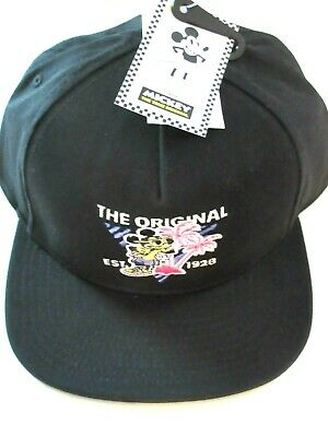 Vans X Disney Mickey Mouse 90th Birthday Hat Baseball Cap Black Adjustable NR