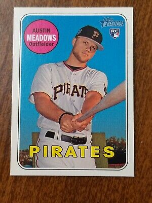 Austin Meadows 2018 Topps Heritage High Number Rookie Card Rays #115