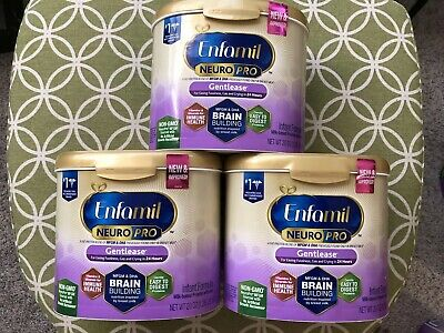 3X Enfamil Neuro Pro Gentlease Infant Formula, Reusable Tub 20 oz Exp. 08/2020