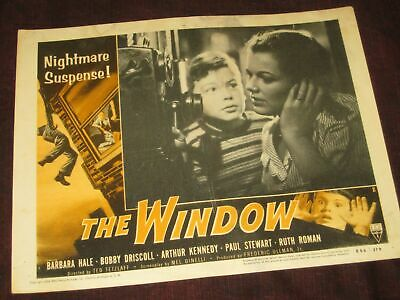 "Bobby Driscoll FILM NOIR LOBBY CARD ""The Window"" 1954 Academy Award Walt Disney"