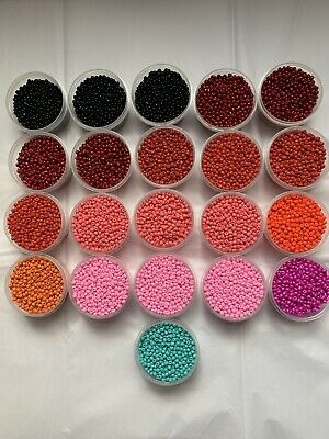 Giant Lot Of Assorted Seed Beads 50 Large Containers 6/0 ( Lot BF)