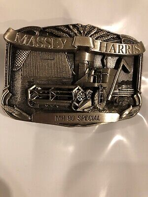 Massey Harris MH 90 Special Combine Farming Agriculture Vintage Belt Buckle