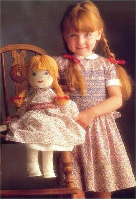 dolly daydream rag doll &clothes diagram sewing pattern s10126 not finished  item