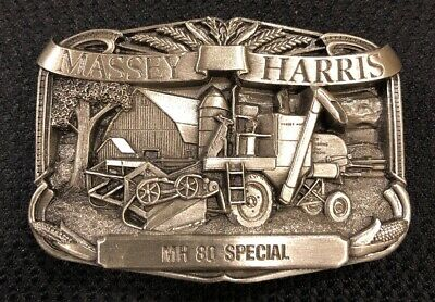 Massey Harris MH 80 Special Combine Farming Agriculture Vintage Belt Buckle