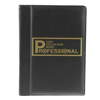 120 Pockets Coins Album Collection Book Commemorative Coin Holders Black #B