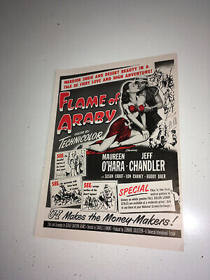 FLAME OF ARABY MOVIE POSTER 13x30 Inch AUSTRALIAN DAYBILL MAUREEN O