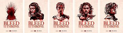 Game of Thrones-5 Poster Set:Throne,Arya,Cersei,Jon,Tyrion-Selling for Charity