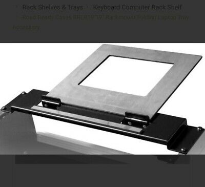 "Road Ready RRLR19 19"" DJ Rackmount Folding Laptop Tray Rack Case"