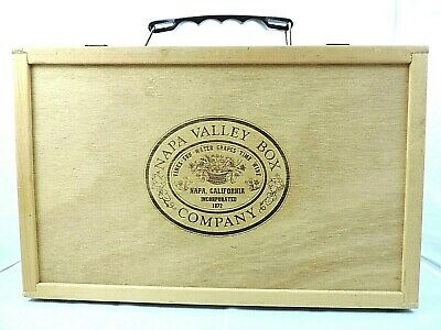 Napa Valley Box Company 30 Cassette Holder With Handle Latches Ships Next Day