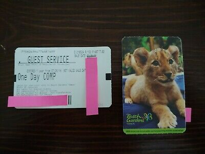 TWO busch gardens Tampa,FL tickets - free shipping