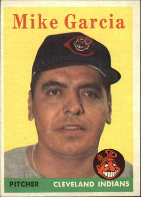 1958 Topps Cleveland Indians Baseball Card #196 Mike Garcia - EX-MT