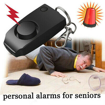 Personal Panic Rape Alarm Keyring Loud Sound Safety Security Attack Light