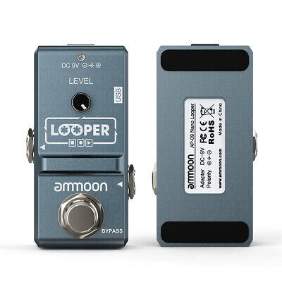 Ammoon NEW Nano Loop Electric Guitar Effect Pedal Looper True Bypass + USB E9Z7