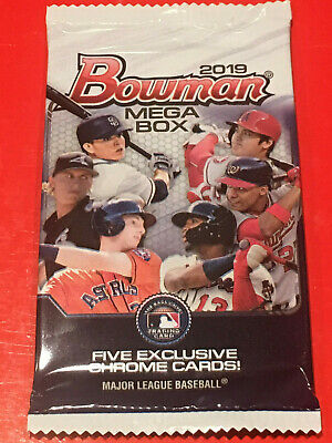 2019 Bowman Mega Box Mojo Chrome Sealed Pack!! HOT!! Franco? Bart? Beer? HOT!!