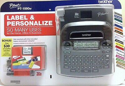 Brother P-touch TZ PT-1890w Labeler & 2Tapes Thermal Machine Label Printer Maker