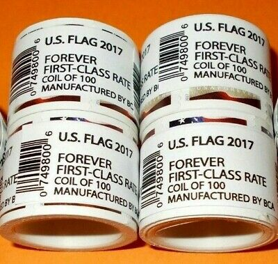 Discount Postage 100 USPS Forever Postage Stamps ( 1 roll US FLAG 2017 )
