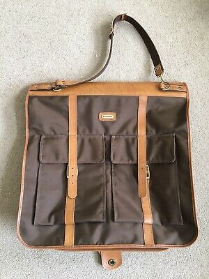Samsonite Garment Suit Folding Bag Brown Vintage Retro Hanging dress clothing