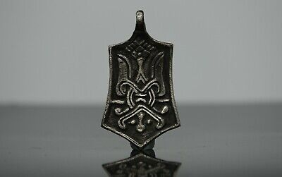 Viking Period Silver Pendant, Scandinavian Mythological Amulet 900-1050 AD