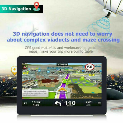 7'' Truck Car GPS Navigator 8GB Navigation Sat Nav FM MP3 Free Map AU New