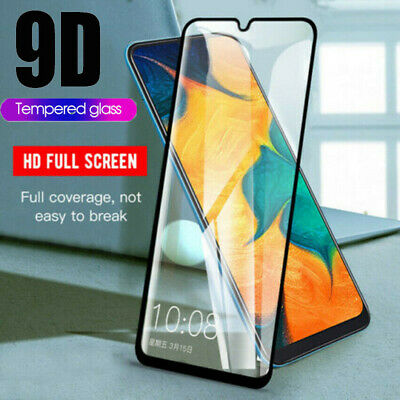 For Samsung Galaxy A70 A40 5Pcs Full Tempered Glass Screen Protector Guard Film