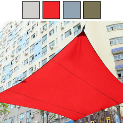 4.5m x 5m Foldable Nylon Sun Shade Sail Garden Patio Shelter Awning Canopy Roof