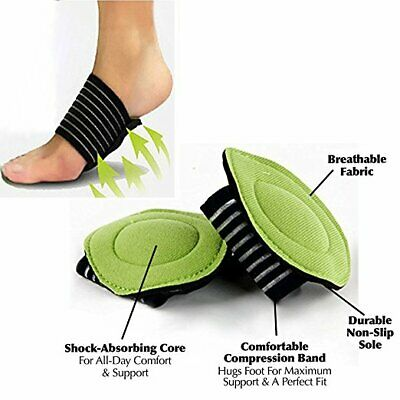 1x/2x ARCH Support Shoe Soft Insole Flat Foot PAIN RELIEF Plantar Fasciitis AUS