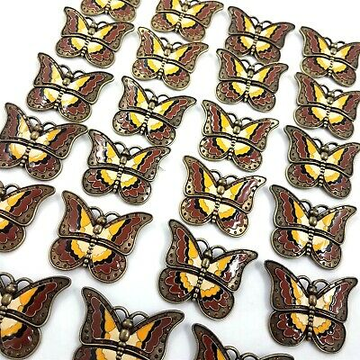 Butterfly Metal Enamel Craft Embellishment Accent Lot 23 Jewelry Making Supplies