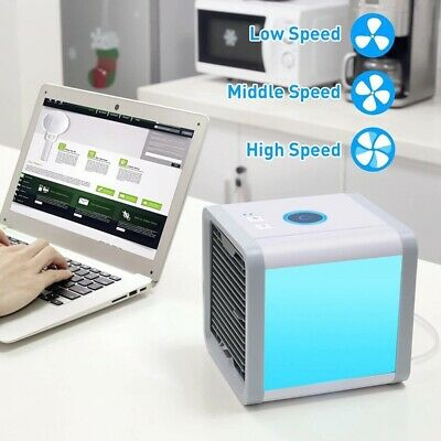 Portable Mini Air Conditioner Air Cooler Cooling Fan For Bedroom Multicolor LED