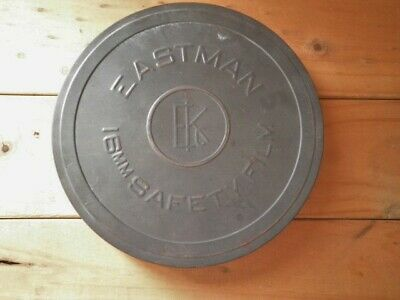 Vintage Eastman 16Mm Film Canister Tin Abc-Tv Film Library Empty Tin