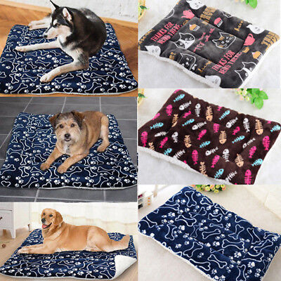 AU Pet Washable Home Blanket Cat Dog Bed Cushion Mattress Kennel Soft Crate Mat