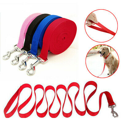 10/15/30M Extra Long Strong Nylon Leash Lead Pet Dog Puppy Training Walking Lead