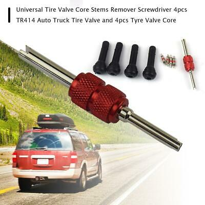 TR414 Tubeless Rubber Car Wheel Tyre Valve With Metal Valve Puller Tool Hot